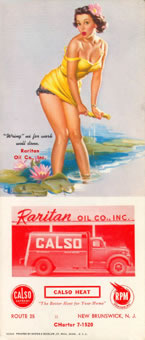 Buvard pin-up pour Raritan Oil
